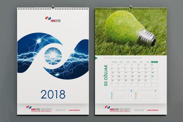 HROTE zidni kalendar 2018