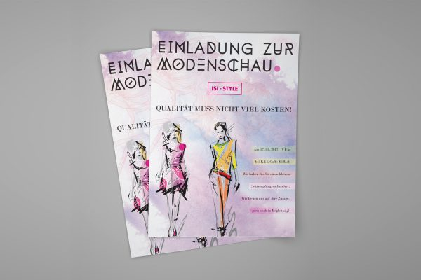 ISI-STYLE plakat za modnu reviju