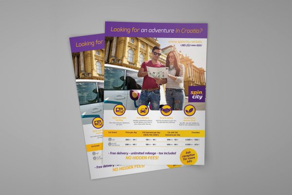 Spin City Rentals plakat