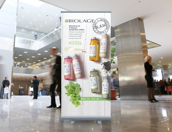 L'Oréal Adria roll-up 'Matrix Biolage'