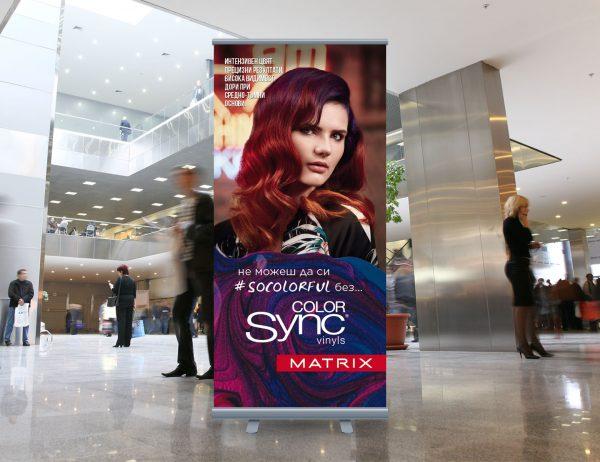 L'Oréal Adria roll-up Matrix Color Sync