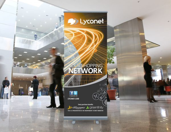Lyoness roll-up 'Lyconet'