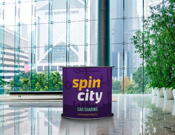 Spin City promo štand