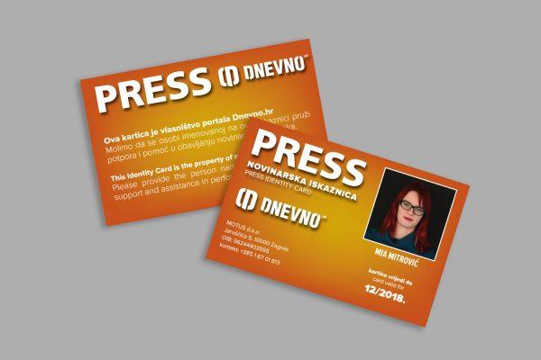 Dnevno.hr press iskaznice