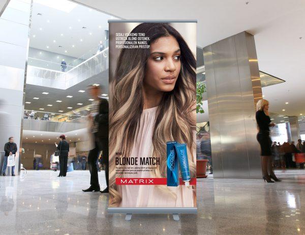 L'Oréal Adria roll-up 'Matrix Blonde Match'