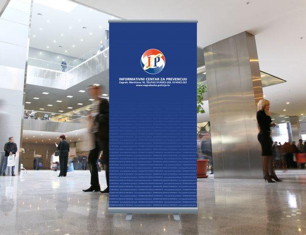 MUP roll-up 'Informativni centar za prevenciju'