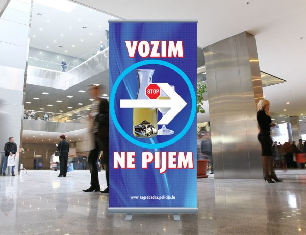 MUP roll-up 'Vozim, ne pijem'