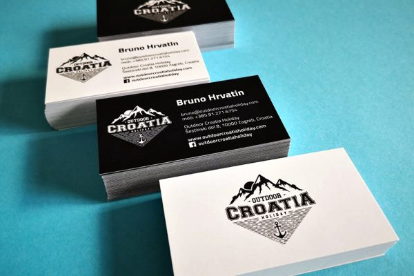Outdoor Croatia Holiday bussines cards