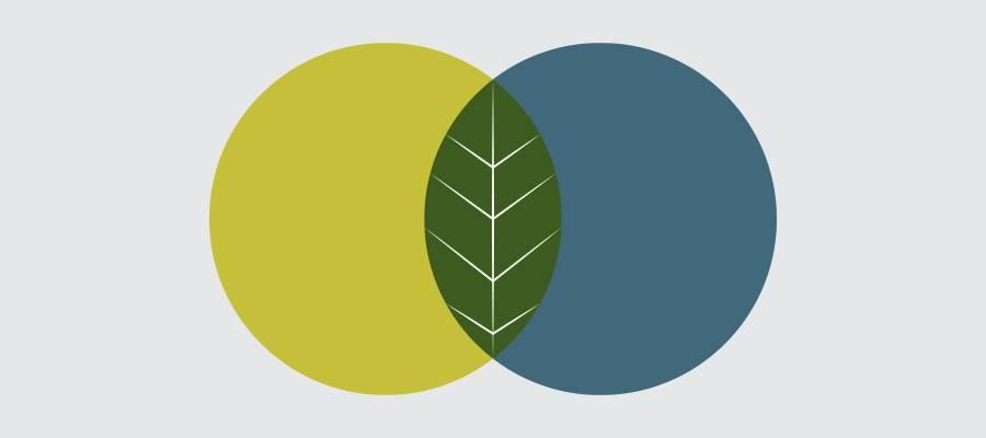 Dizajn trendovi za 2021.: Prikaz preklapajućeg dizajna